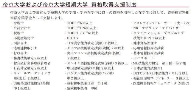 帝京大学資格支援
